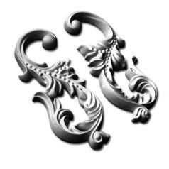 Двухсторонний гипсовый орнамент ФР0027 фото 1