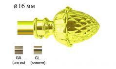 Финал металлический EM-102 для карниза 16 мм фото 1
