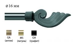 Финал металлический EM-117 для карниза 16 мм фото 1
