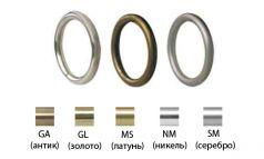 Кольцо металлическое Круглое для карниза 16 мм фото 1