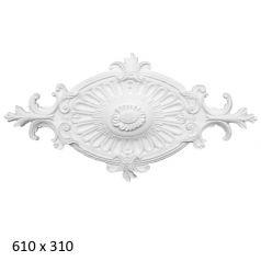Лепная потолочная розетта R-6104 фото 1