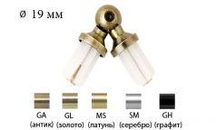 Соединитель эркерный для труб металлического карниза 19 мм фото 1