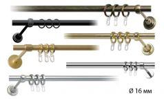 Труба металлическая гладкая к кованому карнизу для штор фото 1