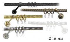 Труба металлическая витая к кованому карнизу для штор фото 1
