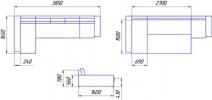 Угловой диван Бруно 3ДА удлиненный фото 3