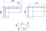 Угловой диван Бруно 3ДК фото 6